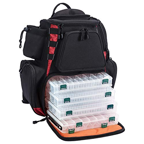 Piscifun Fishing Tackle Backpack with 4 Trays Large...