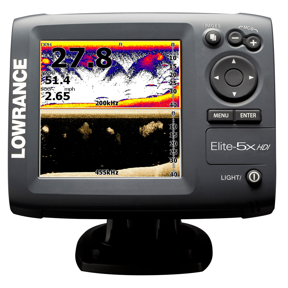Lowrance elite 5 hdi review for Fish finder lowrance