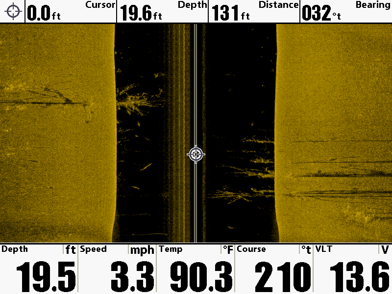 down imaging vs. side imaging, Fish Finder