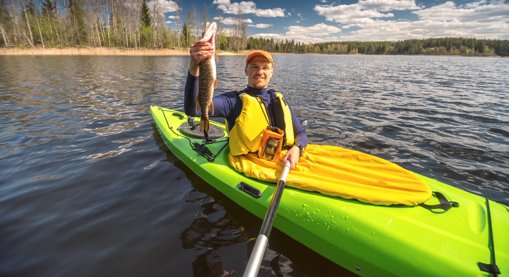 Kayak fishing a guide for new anglers best fish finder for Fish finder on kayak